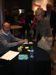 Getting Billy Collins' autograph following his reading at the Blackbird Poetry Festival in Columbia, MD on April 24.